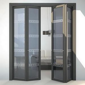 Pintu Aluminium Kaca Lipat